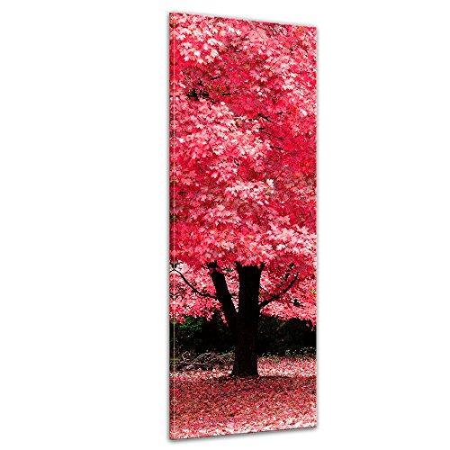 Bilderdepot24 Bild auf Leinwand   Herbst Abstrakt in 30x90 cm als Panorama Wandbild   Wand-deko Dekoration Wohnung modern Bilder   202387