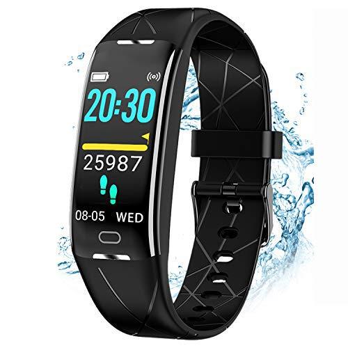 ESOLOM Fitness Tracker,Fitness Armband mit hr und Schlafmonitor,Schrittzähler Uhr und Kalorienzähler, wasserdichter IP68 Aktivitäts Tracker Uhr,Farb Touchscreen Fitness Uhr für Kinder, Damen, Herren