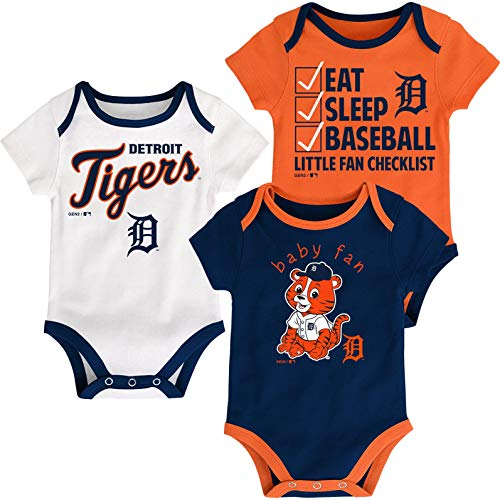 Outerstuff MLB Newborn Infants Play Ball 3 Piece Creeper Body Suit (18 Months, Los Angeles Angels)