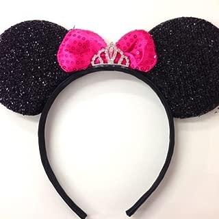 Pink Princess Rhinestone Tiara Minnie Mouse Ears / Pink Disney Princess/princess Ears