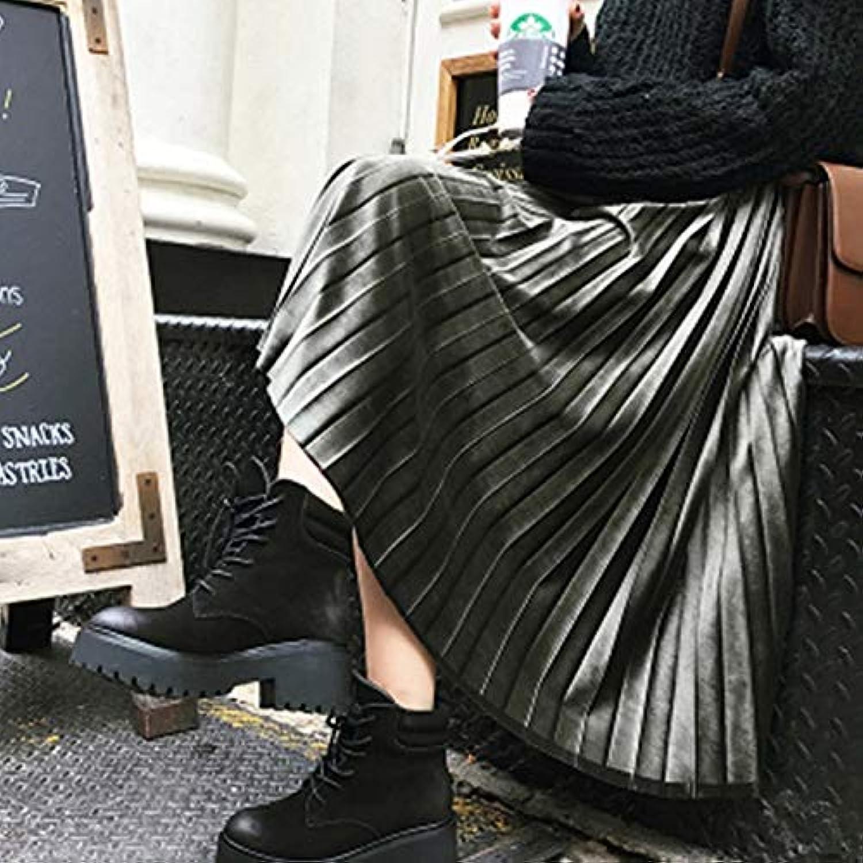WHFDBZQ S6Xl Autumn Vintage Skirt Women Winter High Waist Pleated Skirt Plus Size