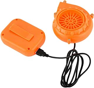 Olivia Thompson Mini Blower Fan for Dinosaur Costume or Doll Mascot Head or Other Inflatable Game Clothing Suits Orange