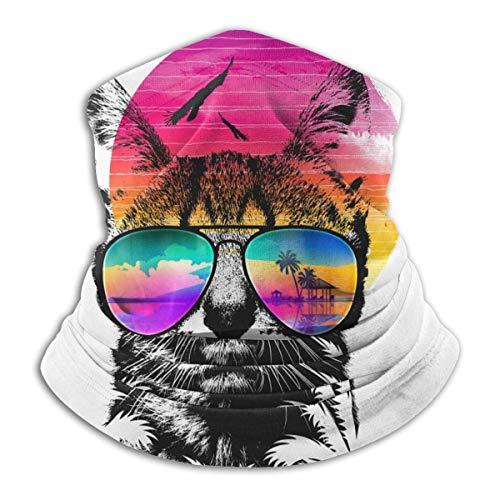Verano gato con gafas de sol calentador de cuello térmico oreja cara Ma-sk cuello polaina a prueba de viento pañuelos para hombres mujeres adolescentes al aire libre