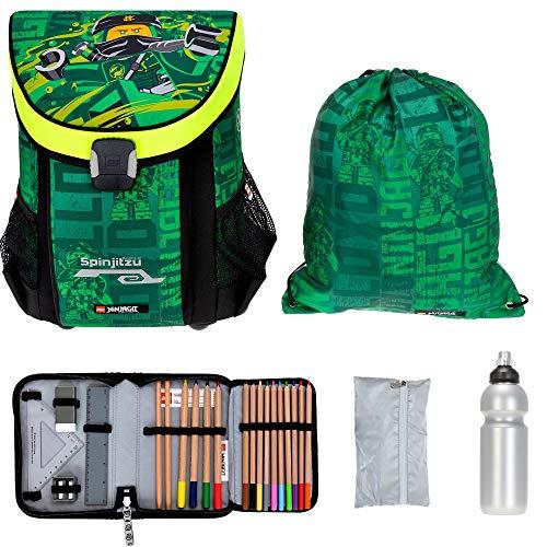 Schulrucksack Jungen Ranzen Rucksack Lego Easy Ninjago Schulmappe Schultasche 5 T Set +rf (Ninjago Energy Neon 2011)