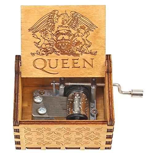 Akaddy Retro Handgekurbeltes Holz Spieluhr Party Weihnachtsgeschenk Haushalt Dekor Ornament