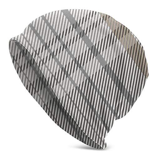 Declam Unisex Soft Beanie Cap Hygge Plaid Winter Caps Hats Cuffed Plain Cap Warm Stretchy Comfort and Soft Daily Toboggan Cap