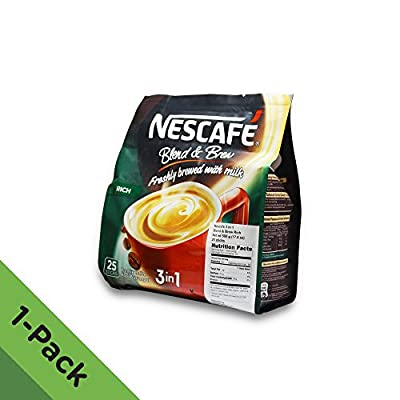 Nescafe 3 in 1 RICH Instant Coffee (25 Sticks) - Made from Premium Quality Beans - Offers a Relaxing Flavor But with Strong, Solid Essence and Aroma - Has a Richer Taste than Nescafe 3 in 1 Original - Serve Hot or Cold - From Nestle Malaysia by Nestle