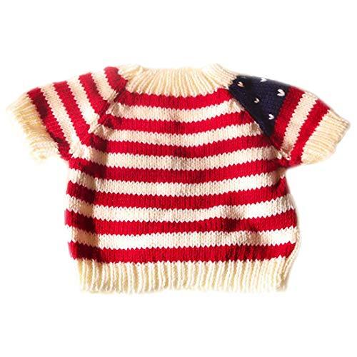 Yatoy love Strick Pullover für Plüschbär Bär Kleidung Bär Puppe Shirt Kostüme - weiß mit Rot