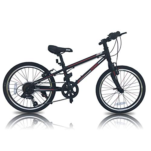 Kids Bikes Hybrid Bicycle Light Weight Mountain Bike Alloy Frame 20' Wheels 7 Gears (Black)