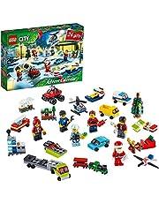 LEGO 60268 City Advent Calendar 2020 Christmas Mini Builds Set with Mirco Vehicles, Santa Sleigh and Board