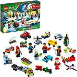 LEGO 60268 City Advent Calendar 2020 Christmas Mini Builds Set with Micro Vehicles, Santa Sleigh and Board