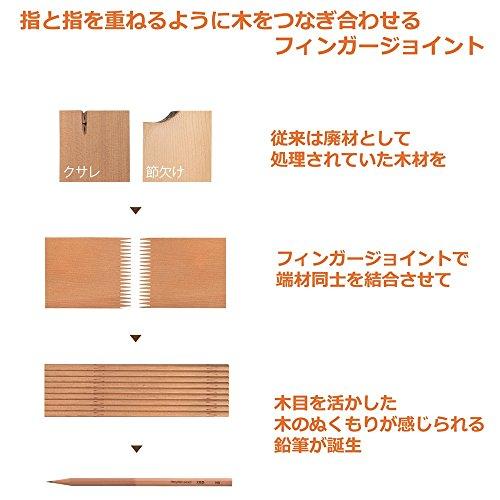 『トンボ鉛筆 ゴム付き鉛筆 木物語 HB 1ダース LG-KEAHB』のトップ画像
