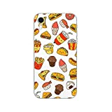 Blingy's iPhone XR Case, Newest Fun Food Style Transparent Clear Soft TPU Protective Rubber Case Compatible for iPhone XR (Happy Fast Food)