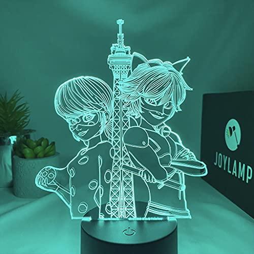 JoyLamp Ladybug und Cat noir von Miraculous – Offizielle Kollektion JoyLamp x Miraculous – 3D-Lampen Miraculous