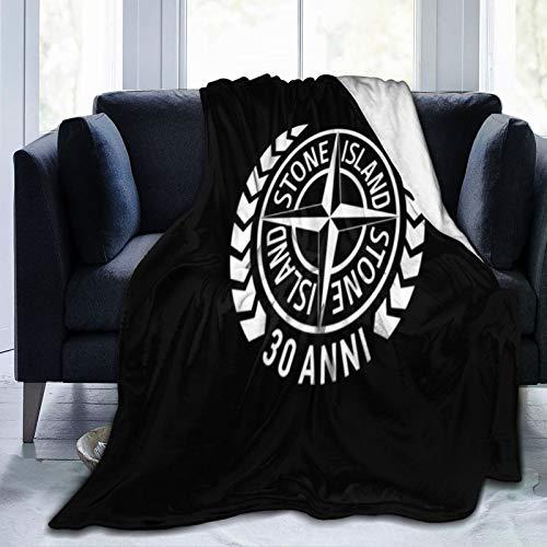 Manta suave de punto de Stone Island para el invierno, cálida manta para sofá y sofá, manta cómoda para decoración de sala de estar