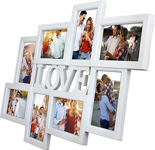FOTOCOLLAGE Gallery Love Weiss, 8 Bilder, 61x42,5 cm