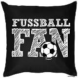 Fußball Fanartikel Deutschland Kissenbezug Geschenk Fussballfan, 40x40 cm in schwarz : )