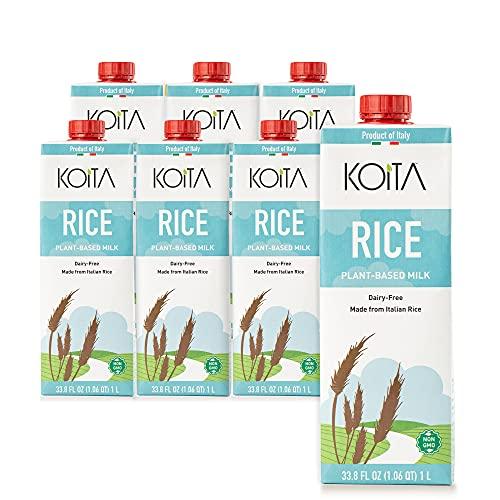 Koita Italian Rice Milk, Non Dairy, Plant-Based, Non GMO, Vegan, Shelf Stable 1L (6-pack)