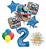 Mayflower Products The Ultimate Thomas The Train Engine 2nd Birthday Party Supplies and Balloon Decorations