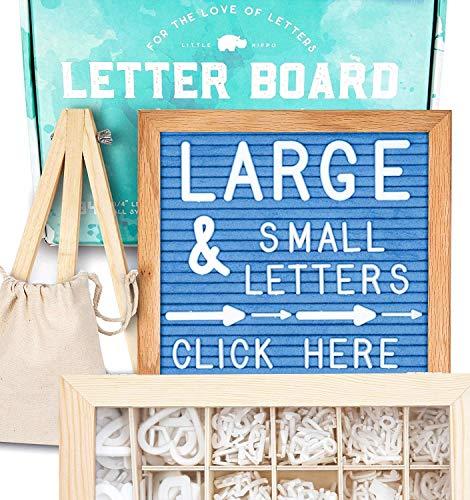 Felt Letter Board 10x10 (Light Blue) +690 PRE-Cut Letters +Cursive +Upgraded Wooden Sorting Tray | Letter Board with Letters, Letters Board, Letter Boards, Letterboard, Word Board, Message Board