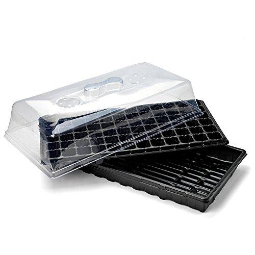 HONGVILLE Propagation Kit 72 Cell Extra Strength, 1020 Tray, Humidity Dome and Plug Tray