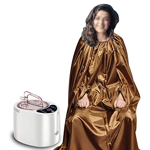 SHEHUIREN Full Body Bath Robe Steaming Herbs Gown Sauna Steam Cloak for Fumigation Assist Cold Treatment Tent Body Therapy Steam Generator for Home Spa Sauna
