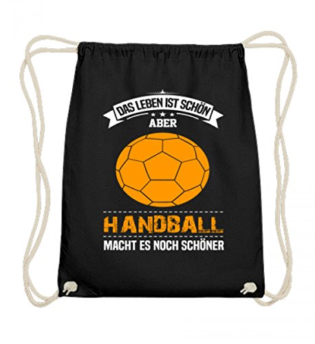 Hochwertige Baumwoll Gymsac - Handball Spieler Trainer Geschenk Handballerin Handballer Geschenkidee Sport