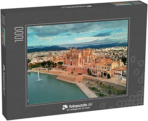 Puzzle 1000 Teile Die Kathedrale von Palma de Mallorca wurde auf Einer Klippe gebaut, die aus dem Meer ragt