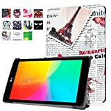 1x Clear LCD Screen Protector Film Guards, Ultra Slim Lightweight Standing Custom Fit Cover for LG G Pad X 8.0 T-Mobile (V521) / AT&T (V520) / LG G Pad III 8.0 (V525) 8 Inch Tablet (Retro Newspaper)