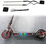 Luces Led para Patinete Eléctrico Bicicletas Coche Adhesivo 14 Led Multicolor Fácil Instalación Seguridad Luz Led Adhesiva