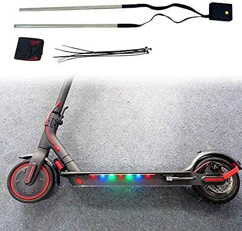 Luces Led para Patinete Eléctrico Bicicletas Coche Adhesivo 14 Led Multicolor Fácil...