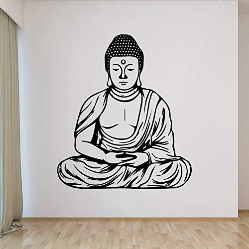 Buddha statue wall sticker modern fashion wall sticker children's room nursery decoration vinyl art decal 57X65cm