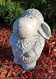 Gartenfigur niedliches Schaf Trudi groß frostfest Handmade Dekofigur für außen Garten Terassen Balkon Gartendeko - 4