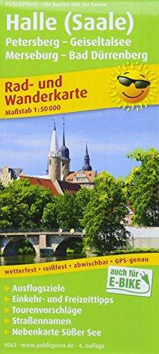 Halle (Saale) - Petersberg - Geiseltalsee - Merseburg - Bad Dürrenberg: Rad- und Wanderkarte mit Nebenkarte Süßer See, Ausflugszielen, Einkehr- & ... 1:50000 (Rad- und Wanderkarte: RuWK)
