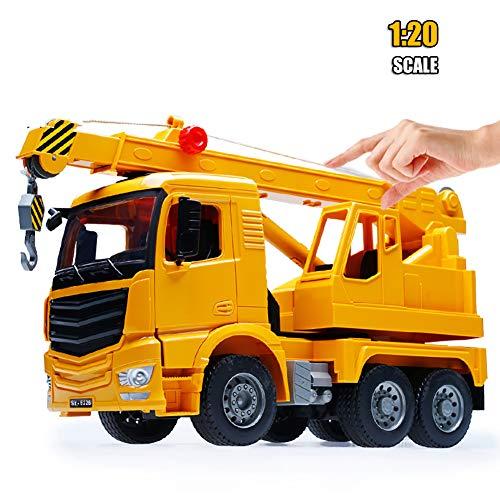 ROCK1ON Kids Bouw Voertuigen Speelgoed ABS Kraan Truck Model Verstelbare Hoogte Ladder Auto Speelgoed 1:20 Schaal Home Decoratie Verjaardagscadeaus voor Leeftijd 3+ Jaar Jongens Meisjes
