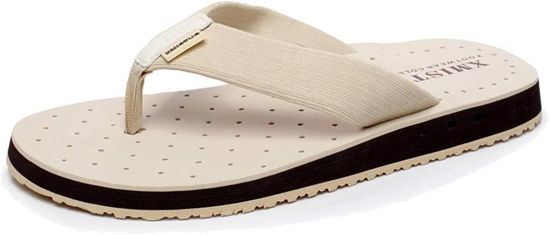 L-X Men's Flip Flop Slipper Summer Orthotic Stylish Outdoor Beach Large Size Fashion Buffet, white, 44EU