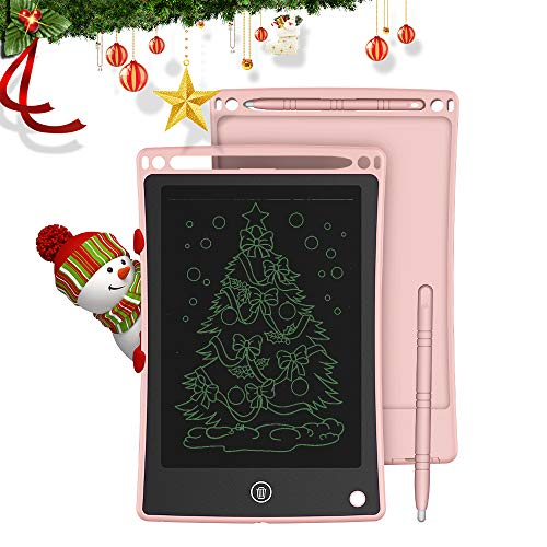 Doosl Tableta de Escritura LCD, Tableta para Escribir y Hacer Bocetos de 8,5 Pulgadas - Tableta de Escritura Mini Pad Tableta de Dibujo para uso en la Escuela, el Hogar, la Oficina y los Viajes-Rosado
