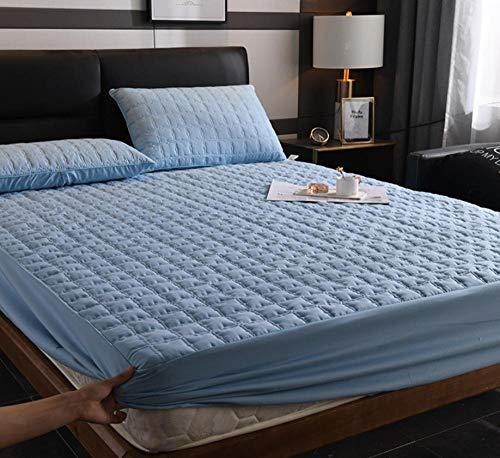 XLMHZP Sábanas Acolchadas de algodón de Lujo, sábanas Queen-fit Impresas, Protector de colchón King Antideslizante para niños y niñas-E_180x200cm + 30cm