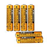 6 Pack HHR-65AAABU NI-MH Rechargeable Battery for Panasonic 1.2V 630mAh AAA Battery for Cordless Phones