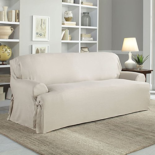 Serta Relaxed Fit Cotton Duck Slipcover for T-Sofa