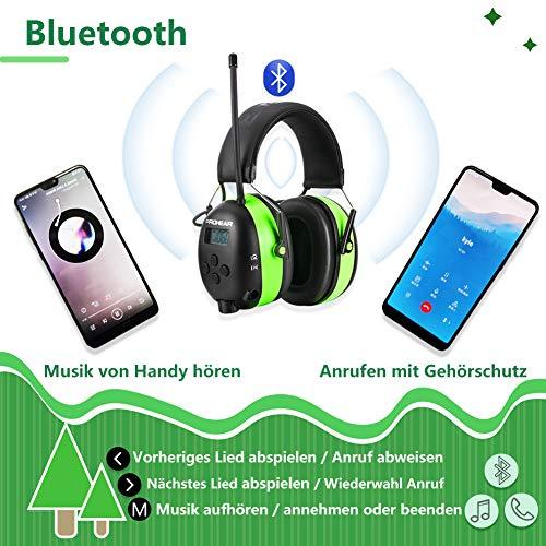 PROHEAR 033 Gehörschutz mit Bluetooth, FM/AM Radio Ohrenschützer, Eingebautem Mikrofon und Lärmreduzierung für Forst-, oder Landarbeit & lärmintensive Freizeitaktivitäten SNR30dB - 5