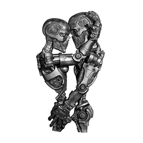 Design Toscano CL6655 Steampunk Machine-age Sweethearts Wall Sculpture,Antique Silver