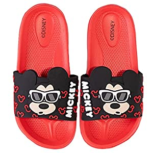 Disney Minnie & Mickey Mouse Boy's Girl's Sliders Flip Flops Sandals Waterproof with 3D Character Picture 29/30
