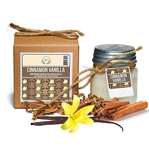 Aira soy candles: Cinnamon vanilla flavor