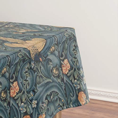 Tovaglia vintage Flora Morris Edward Burne-Jones a prova di fuoriuscita, tovaglia pulita per tavolo da pranzo, 137,2 x 182,9 cm