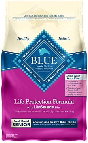 Blue Buffalo Life Protection Formula Small Breed Senior Dog Food , Natural Dry Dog Food for Senior Dogs , Chicken and Brown Rice , 6 lb. Bag