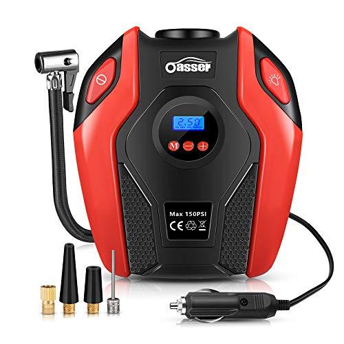 Oasser Auto-Luftpumpe Reifen Inflator Kompressor Digital Portable mit LCD Bildschirm 12V DC 150PSI