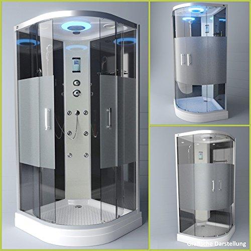 TroniTechnik Duschtempel Duschkabine Dusche Glasdusche Eckdusche Komplettdusche S100XH2HG01 100x100