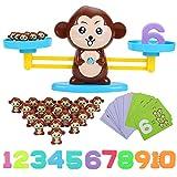 FORMIZON Apprentissage des Mathématiques Jeu Monkey Match, Compter Les Jouets, Jeu Montessori Singe Échelle Équilibre, Balance Numérique pour Outil Éducatif STEM Cadeau Enfants (Singe)