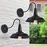 Lámparas de pared de granero para exteriores retro apliques de pared industrial...